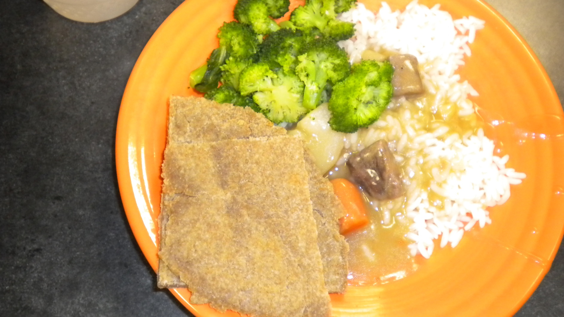 Kenyan food at the camp