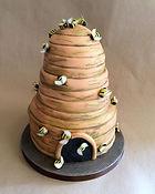Synies beehive birthday cake gateau anniversaire ruche abeilles