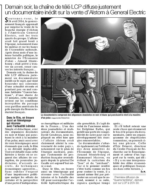 Guerre fantôme dans le journal Le Dauphiné Libéré