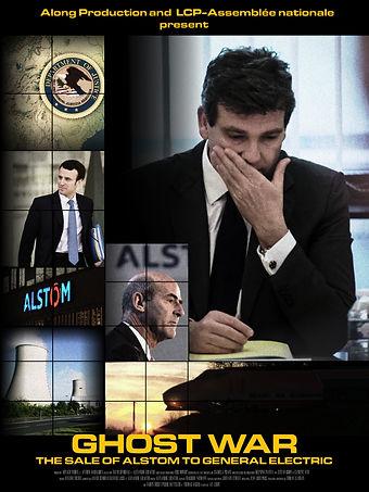 Affiche du documentaire Guerre fantôme : la vente d'Alstom à General Electric produit par Along Production et réalisé par David Gendreau et Alexandre Leraître