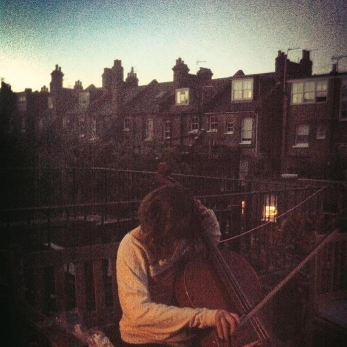 Playing cello on my roof
