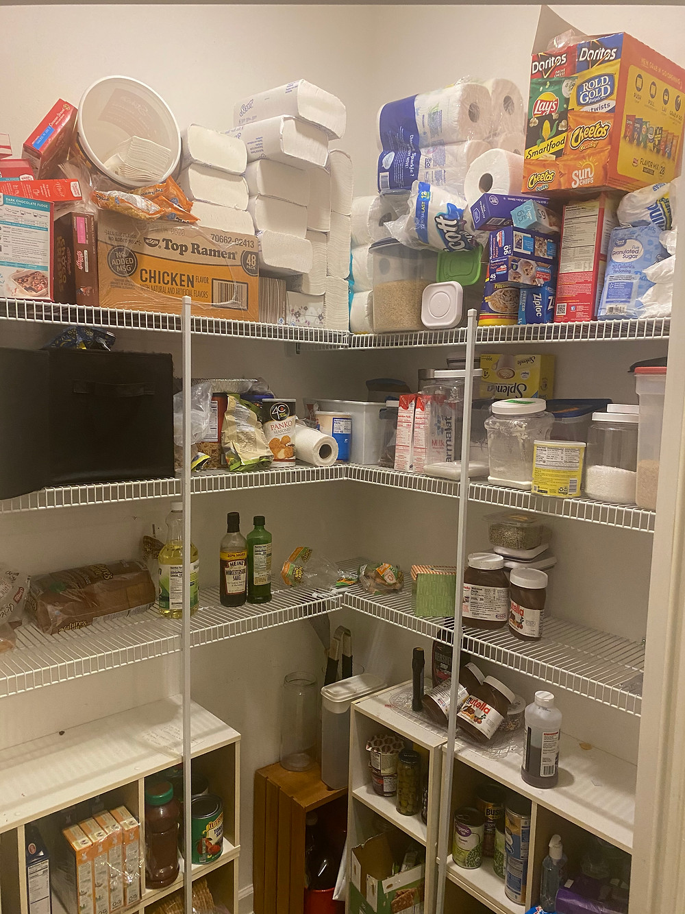 Old pantry partially emptied