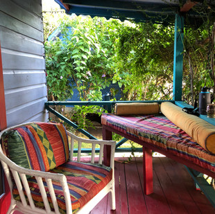beachfront cottage porch