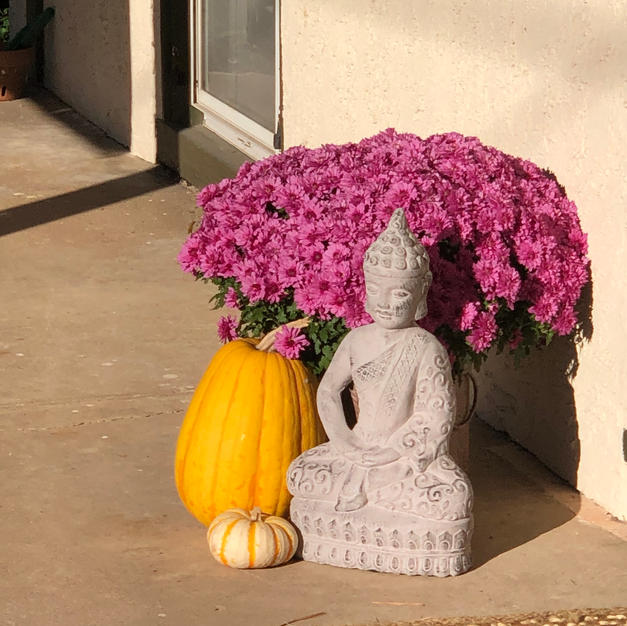 buddha at front door