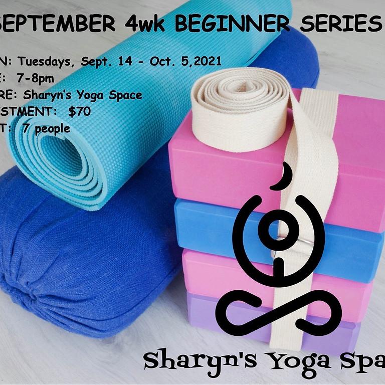 Sept/Oct Beginners Series 4wk