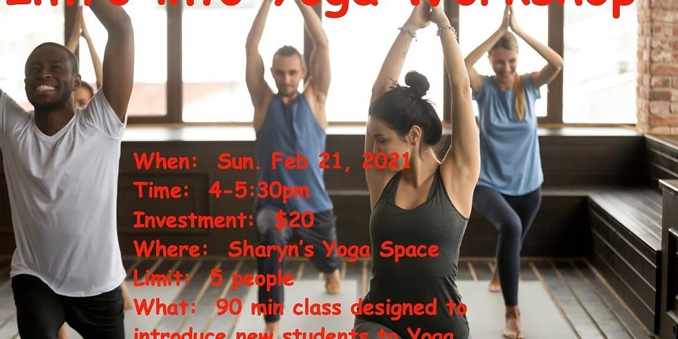 Intro into Yoga Beginners Workshop