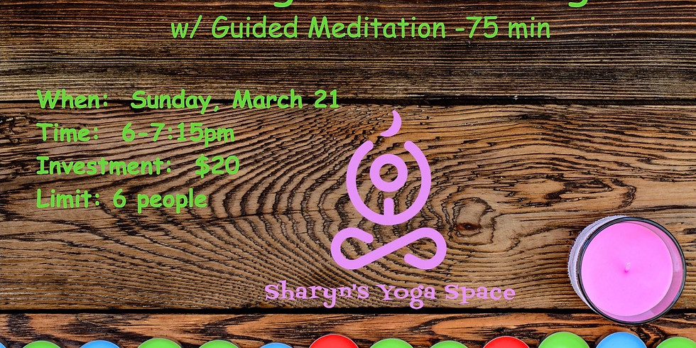 March 21- Candlelight Gentle w/mediation-75min
