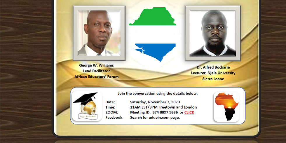 """""""Sierra Leone Higher Education in the Corona Age and Beyond"""""""