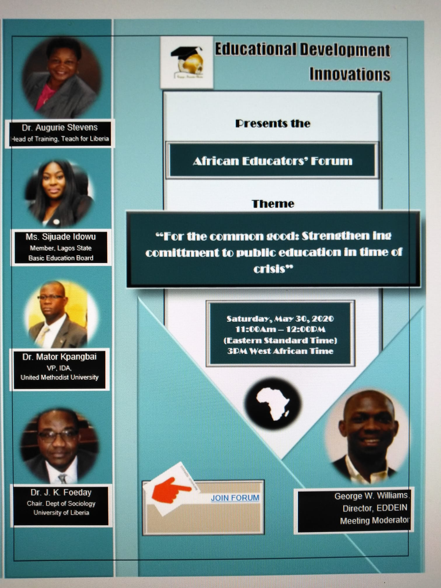 3rd African Educators' Forum Flyer