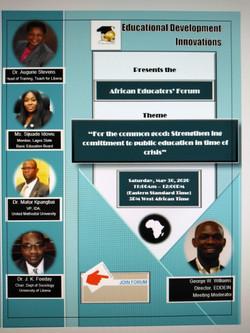 3rd African Educators' Forum Flyer