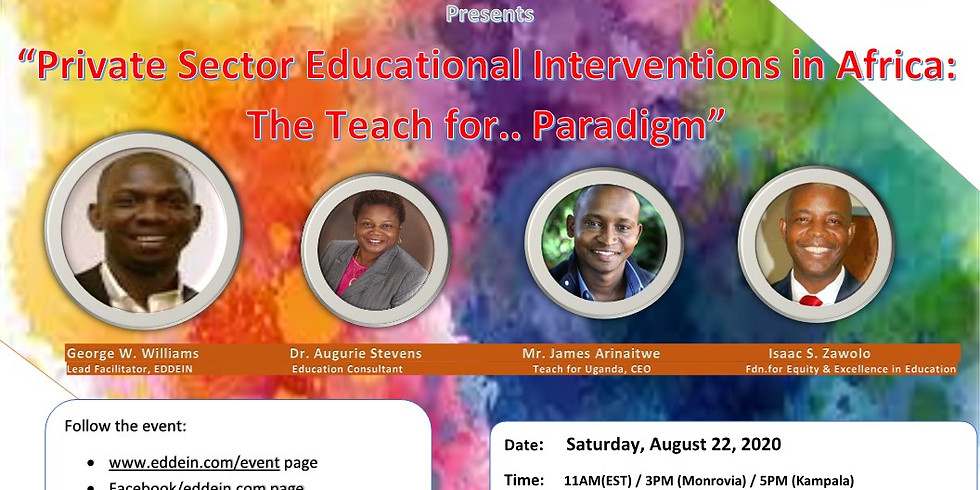 """""""Private Sector Educational Interventions in Africa: The Teach for .... Paradigm"""""""