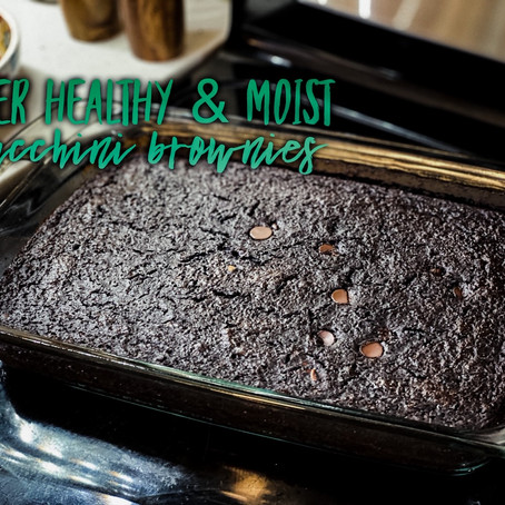 Super Healthy & Moist Zucchini Brownies