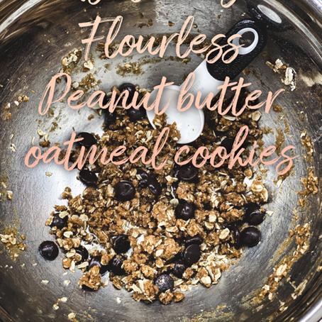 Healthy Oatmeal & Peanut Butter Cookies