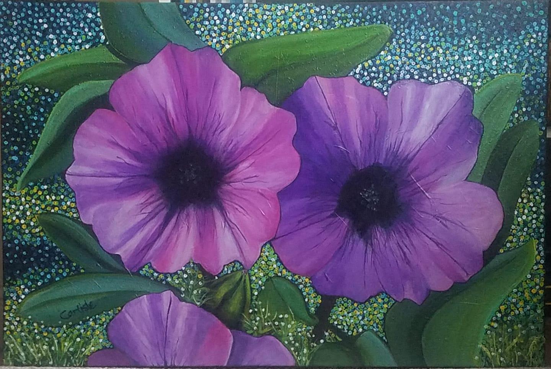 Caitllin's Purple Pansies