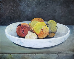 Still Life of Onions, Potato, and