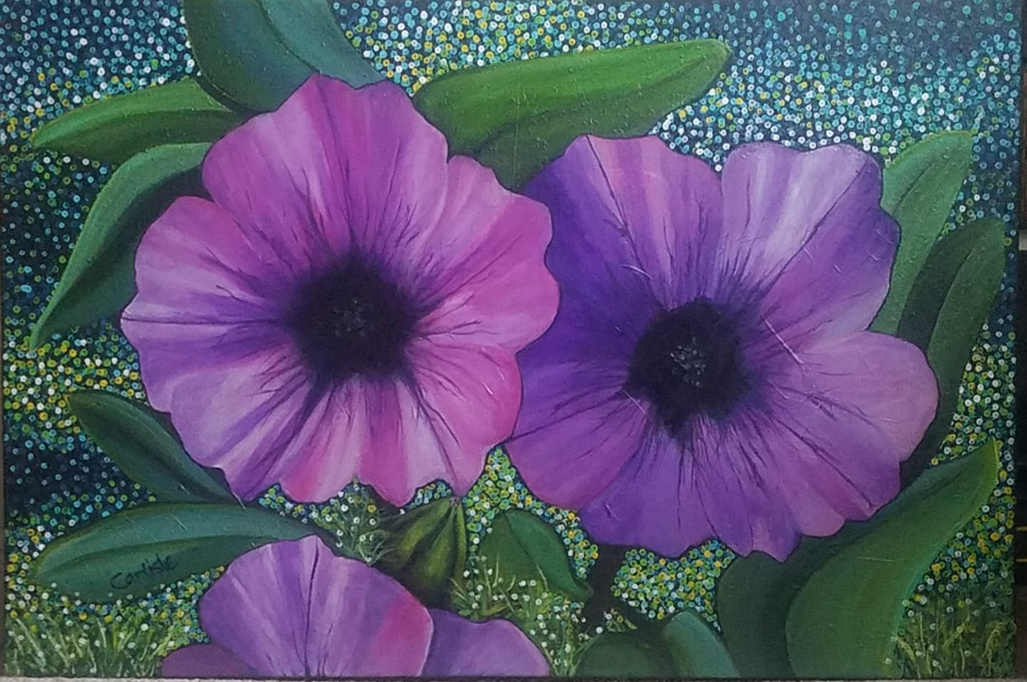 Caitlin's Purple Pansies