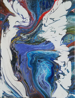 Abstract Blue Ice