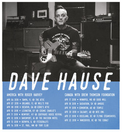 Shows Added in April with Dave Hause.