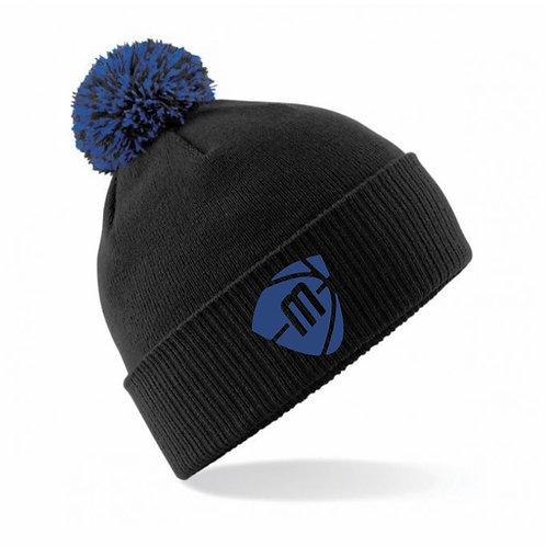 Manchester Magic & Mystics Black and Blue Bobble Hat