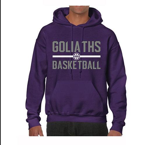 Gosforth Goliaths Purple Hoody design 3