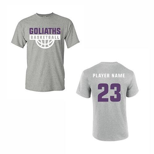 Gosforth Goliaths Grey T-shirt Design 4