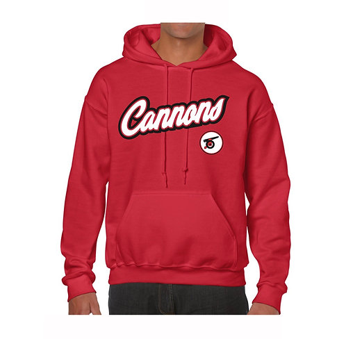 Cannons Red Hoody design 1