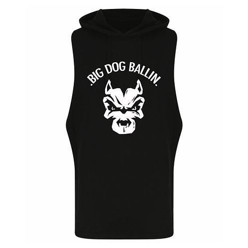 Big Dog Ballin Black big logo Sleeveless Hoody