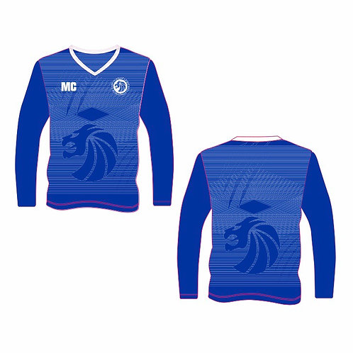Blue Long Sleeve Shooting Shirt