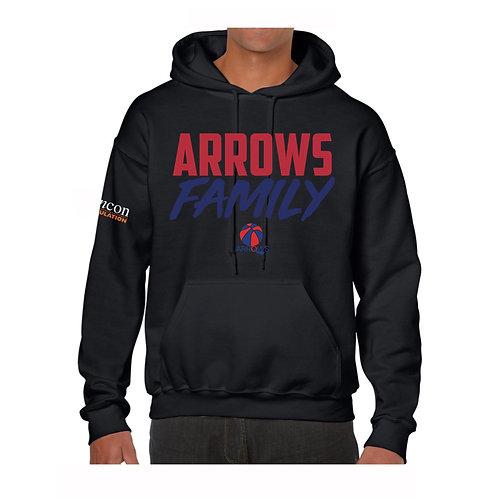 Derbyshire Arrows Black Hoody design 2