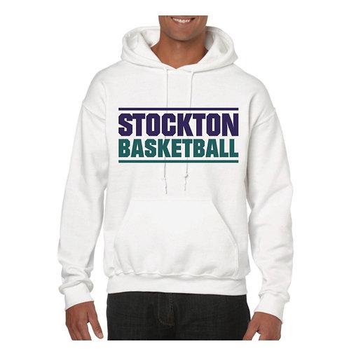 Stockton Basketball White Hoody design 6
