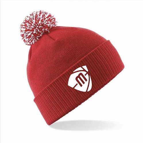 Manchester Magic & Mystics Red and White Bobble Hat