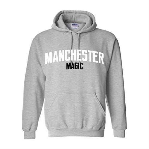 Manchester Magic Sport Grey Hoody - White and Black print