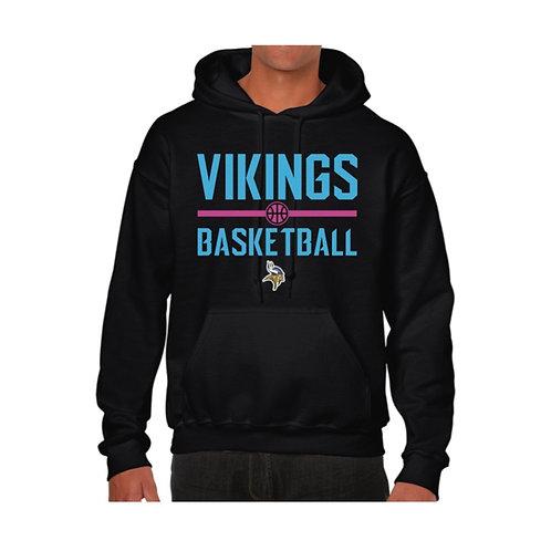 Richmond Vikings Black Hoody design 4