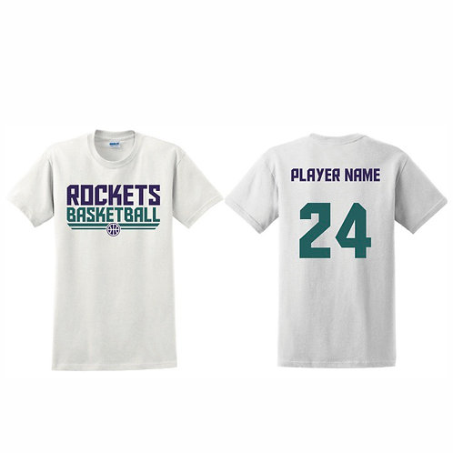 Stockton Rockets - White T-shirt Design 8