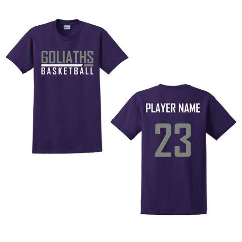 Gosforth Goliaths Purple T-shirt Design 2