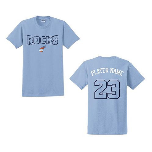 Glasgow Rocks Juniors T-shirt Design 3 - Light Blue