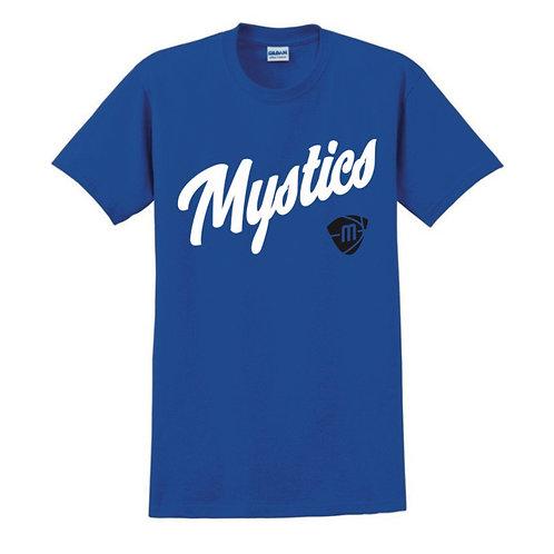 Manchester Mystics Script & Logo Blue T-shirt