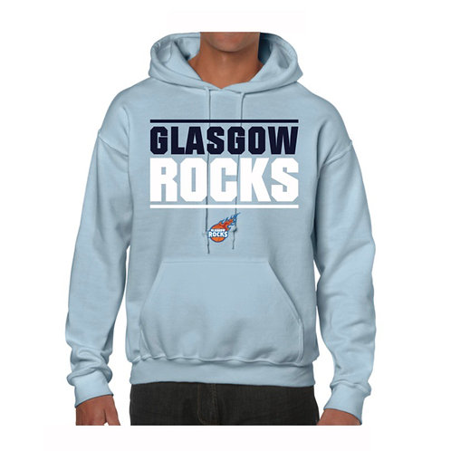 Glasgow Rocks Juniors Hoody design 1 - Light Blue