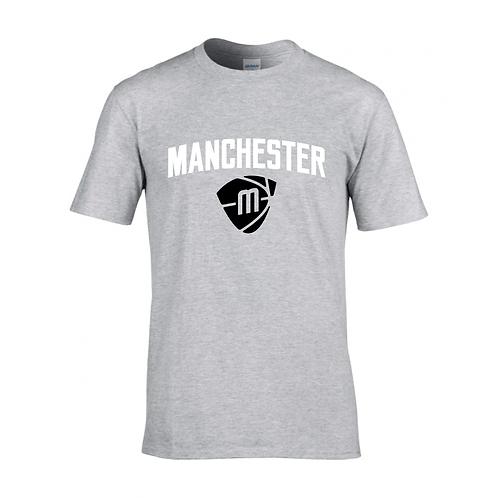 Manchester Magic & Mystics Text and Logo Sport Grey T-shirt - White & Black