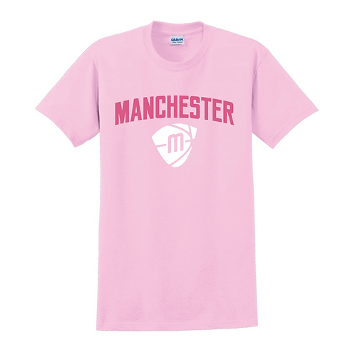 Manchester Magic & Mystics Text and Logo Light Pink T-shirt 2