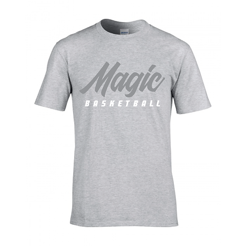 Manchester Magic Basketball Sport Grey T-shirt - Grey & White
