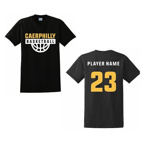 Caerphilly Cobras Black T-shirt Design 1
