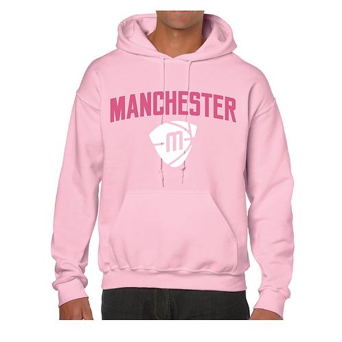 Manchester Magic & Mystics Text and Logo Light Pink Hoody - Pink & White