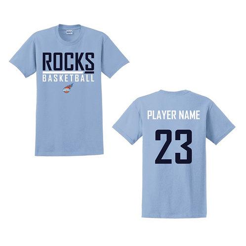 Glasgow Rocks Juniors T-shirt Design 2 - Light Blue