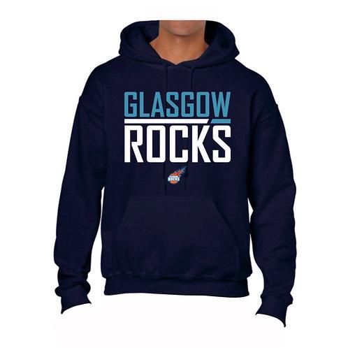Glasgow Rocks Juniors Hoody design 2 - Navy Blue