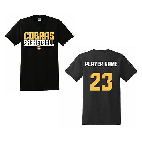 Caerphilly Cobras Black T-shirt Design 2