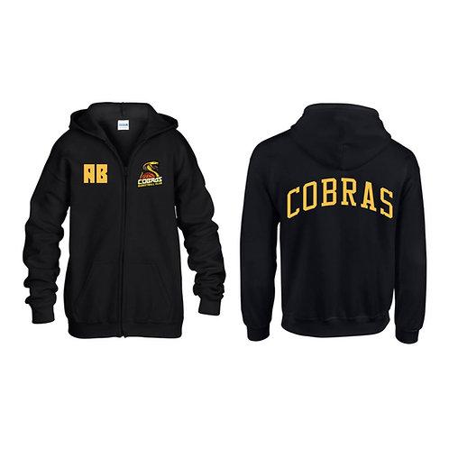 Caerphilly Cobras Black Full Zip Hoody