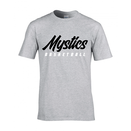 Manchester Mystics Basketball Sport Grey T-shirt - Black & White