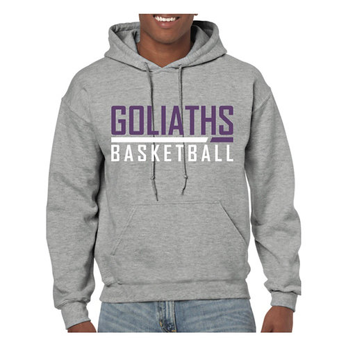 Gosforth Goliaths Grey Hoody design 2