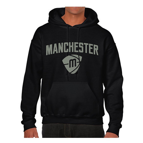 Manchester Magic & Mystics Text and Logo Black Hoody - Grey